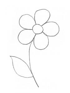 эскиз цветка