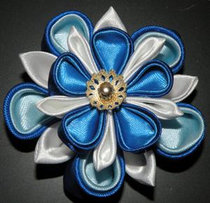 Цветы из лент канзаши –техника изготовления