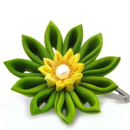 заколка-цветок Цветы из лент канзаши –техника изготовления