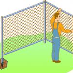 как закреплять столбы ограждения