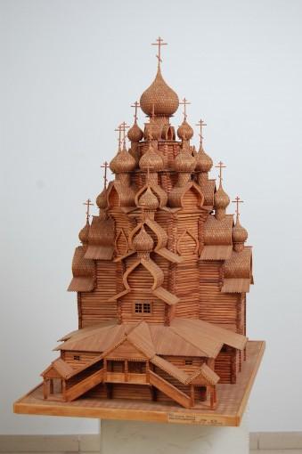 архитектурная модель церкви в Кижах