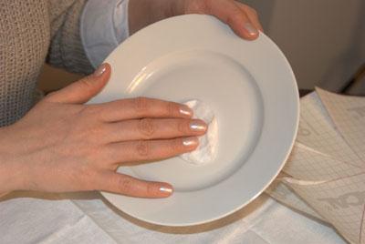 протирка тарелки