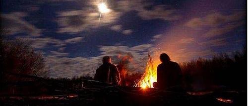 костер в ночи
