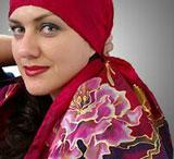 шарфик в технике батик