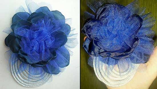 Обалденная брошь-цветок из ткани