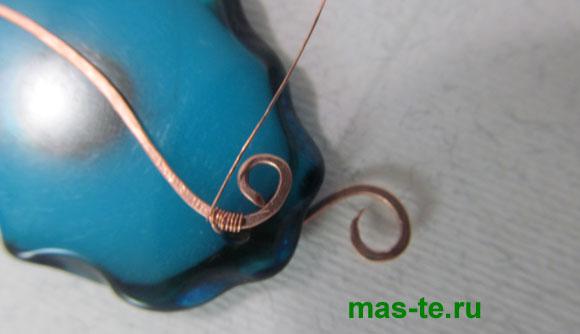 Плетение из проволоки украшений техникой вайрворкинг