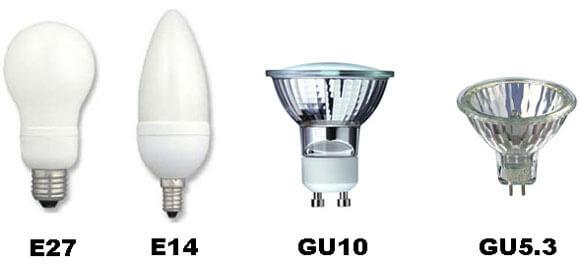разновидности цоколей лампочек