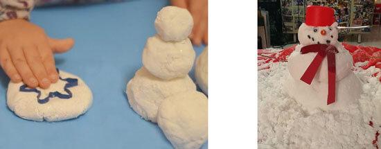 sneg-iz-sody-i-kraxmala Имитация снега