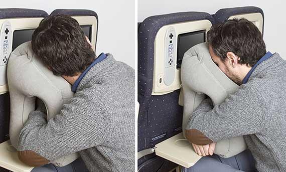 как удобно спать в самолете
