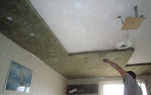 минеральная вата на потолок