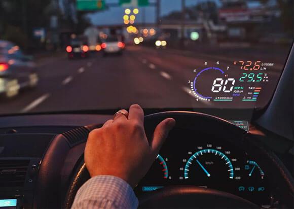 проекционный HUD дисплей для лобового стекла автомобиля